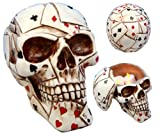 Ace Cards Royal Flush Poker Game Skull Utility Keepsake Jewelry Box Figurine premium decor collectible figurine