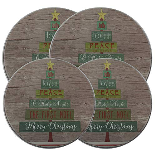 Oh Tannenbaum - Christmas/Holiday Electric Stove Burner Kovers - 4 Pack (Christmas Stove Burner Covers)