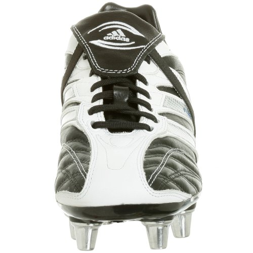adidas Men's Flanker III Rugby Cleat,Black/Silver/White,8 M
