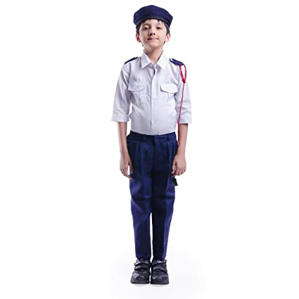Buy Traffic Police Dress For Kids (4-5 YRS) Online at Low