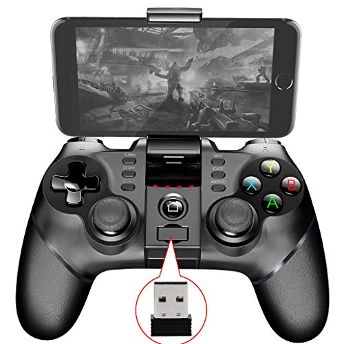Glumes Android Wireless Game Controller, Gamepad Remote (for Android Phone/Tablet/Samsung Gear VR/Emulator) Gear VR Gamepad Controller Compatible with Bluetooth