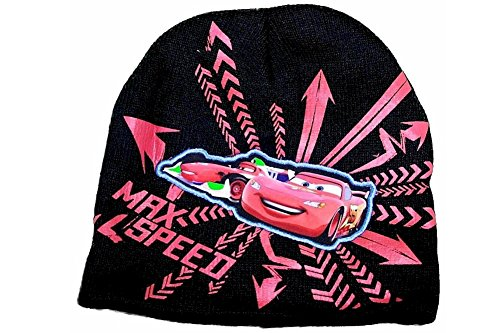 "Disney Pixar Cars ""Max Speed"" Boy's Black Hat & Gloves Set Sz. 4-7"