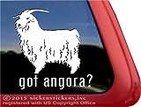 Got Angora? NickerStickers Angora Goat Vinyl Window Decal Sticker