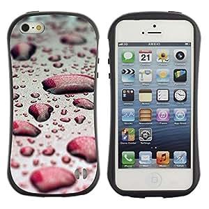 Suave TPU GEL Carcasa Funda Silicona Blando Estuche Caso de protección (para) Apple Iphone 5 / 5S / CECELL Phone case / / Water Drop Red Bokeh /
