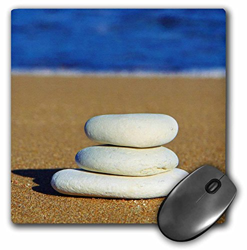 Price comparison product image 3dRose LLC 8 x 8 x 0.25 Inches Mouse Pad, Zen Moment - Inspirational Photography - Beach (mp_51360_1)