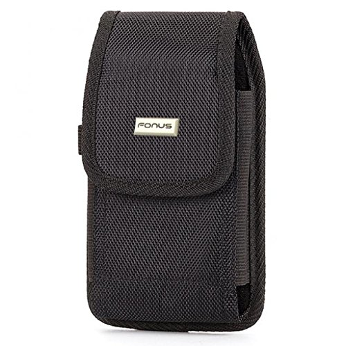 Case Holster Belt Clip Side Pouch Cover [Black] for Verizon ZTE Blade Vantage - Virgin Mobile iPhone Xs ()