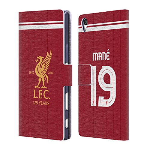Official Liverpool Football Club Sadio Mané Players Home Kit 17/18 Group 1 Leather Book Wallet Case Cover For Sony Xperia Z5 Premium / Dual