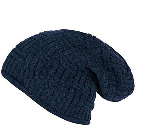 9f2005b92a5 Zacharias Unisex Wool Beanie Cap (Dark Blue