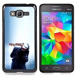 "Cachorro tan serio Lluvia Triste lindo"" - Metal de aluminio y de plástico duro Caja del teléfono - Negro - Samsung Galaxy Grand Prime G530F G530FZ G530Y G530H G530FZ/DS"