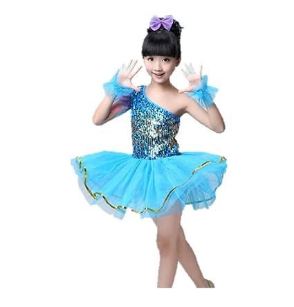 97d626da1a MATISSA Trajes de Baile de Lentejuelas para niños Vestidos de Ballet Faldas  Ropa de Baile Niños Niñas 3-15 años  Amazon.es  Deportes y aire libre