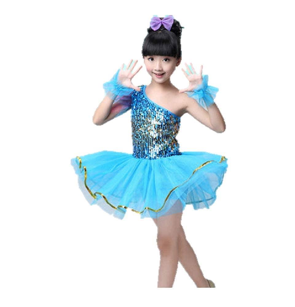 1170d92db010 Amazon.com: Matissa Children's Sequin Dance Costumes Ballet Dresses Skirts  Dancewear Kids Girls 3-15 Years: Clothing