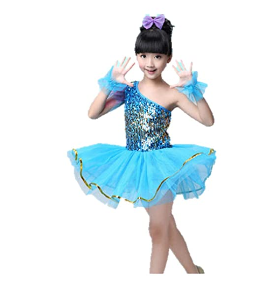 c668ca7e2 Amazon.com  Matissa Children s Sequin Dance Costumes Ballet Dresses ...