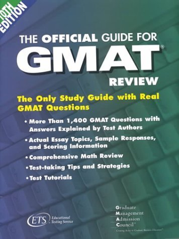 The Official Guide for Gmat Review by Educational Testing Service Staff