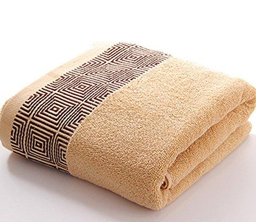 Die dicke Handtücher aus Baumwolle erwachsene Frau paar Badewanne Hotel cotton Wasseraufnahme erhöhen, große Handtücher zurück auf das Feld Kante Kaffee
