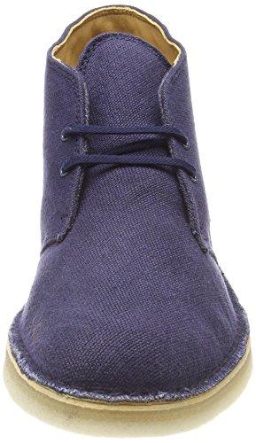 Desert Boot Navy Blu Clarks Fabric Stivali Uomo p4wqd