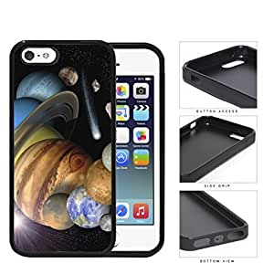 The Solar System Stars Planets And Shooting Stars Rubber Silicone pc Cell Phone Case Apple iPhone 5 5s