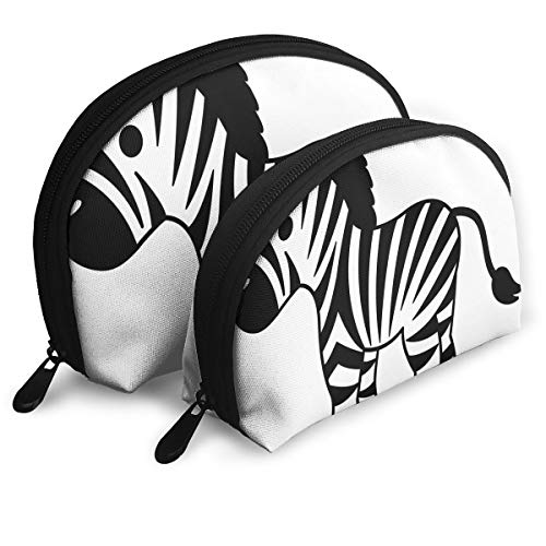 Makeup Bag Small Zebra Drawing Portable Shell Makeup Case For Girls Halloween Gift Pack - 2 -