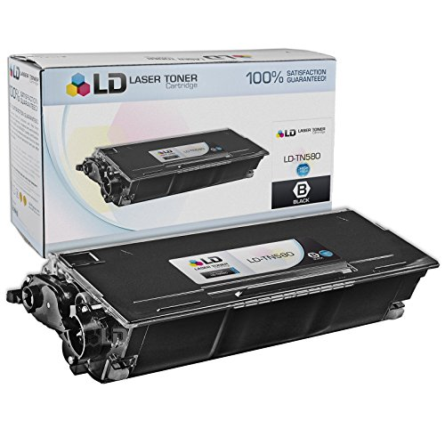 LD Compatible Toner Cartridge Replacement for Brother TN580 High Yield (Black) (Brother Laser Printer Hl5250dn)