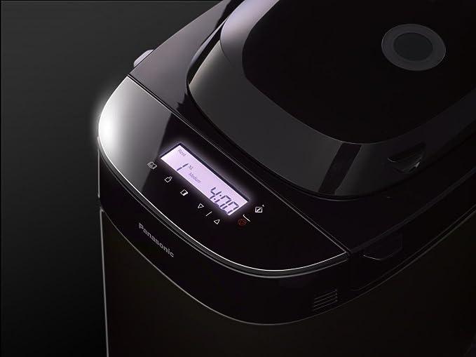 Panasonic SD-ZX2522KXG 550W Negro - Panificadora (Negro, Pan francés, Pan sin gluten, Masa para pizza, Pan de centeno, Oscuro, Luz, Medio, Tocar, 60 min, ...