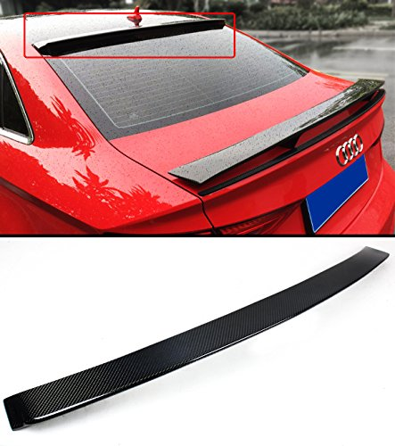 (Cuztom Tuning FOR 2014-2018 AUDI A3 S3 RS3 SEDAN VIP CARBON FIBER REAR WINDOW ROOF SPOILER WING)