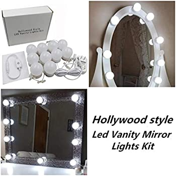 Waneway Hollywood Style LED Vanity Mirror Lights Kit for Makeup ...