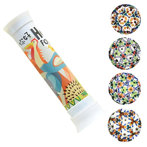 Tin Kaleidoscope Classic (Yeefant Rotating Magic Classic Tin Kaleidoscope Tube with Light Prism Lens for Autism Kid Toy,Best Birthday Gift for Children Adult)
