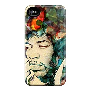 Anti-Scratch Hard Phone Covers For Iphone 6plus With Unique Design Trendy Jimi Hendrix Pattern NataliaKrause