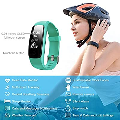 Lintelek Fitness Tracker HR, Activity Tracker, Continuous HR Monitor,Sleep Monitor, Steps Counter, Waterproof, 14 Sports Modes