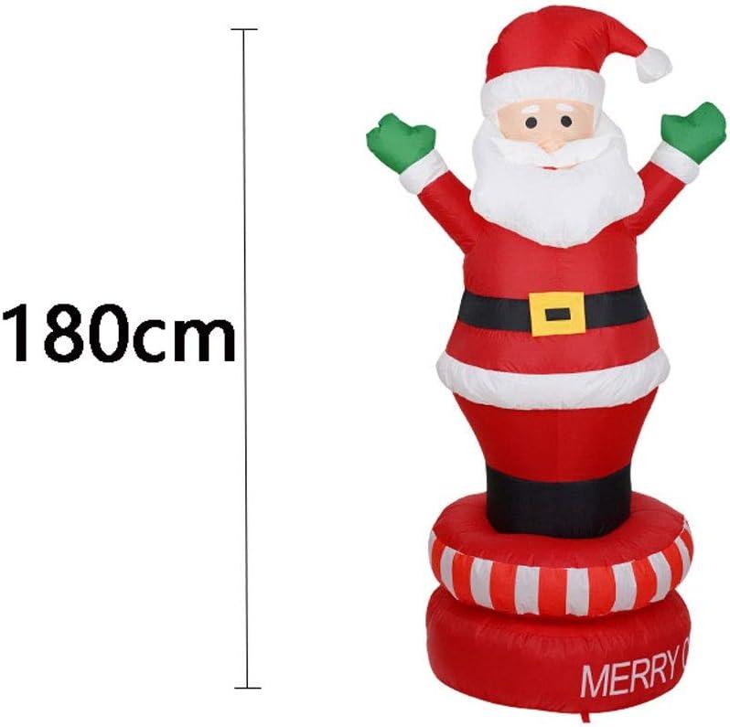 SSBH 180 cm Papá Noel Iluminado Inflable de Navidad de pie en la ...