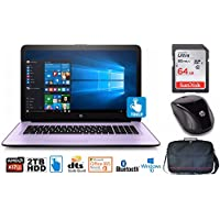 """HP Notebook 17 Bundle, AMD A12, 2TB HD, 12GB, 17.3"""" TouchScreen, Office 365 1-Yr (Certified Refurbished)"""