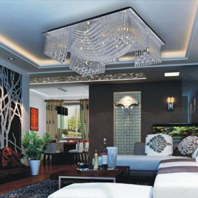 LightInTheBox Modern/Contemporary Crystal Beaded Ceiling Light with 13 G4 in Warm White Source Chandelier Lighting Fixture for Living Room, Bedroom Voltage=110V-220V
