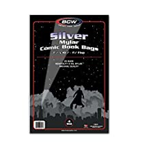 (25) Silver Age Age Archival Mylar 4 Mil Polyester Comic Book Bags By BCW by BCW