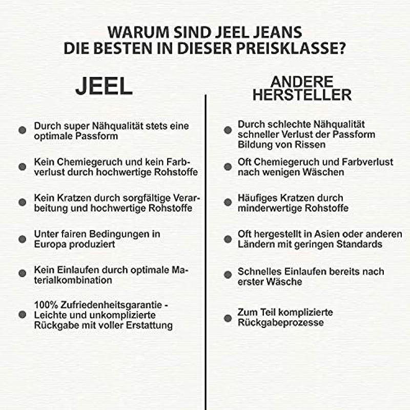 Jeel Dżinsy męskie - Regular Straight Cut - Stretch - spodnie jeansowe Basic Washed: Odzież