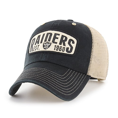 NFL Oakland Raiders Woodford OTS Challenger Adjustable Hat, Black, One Size
