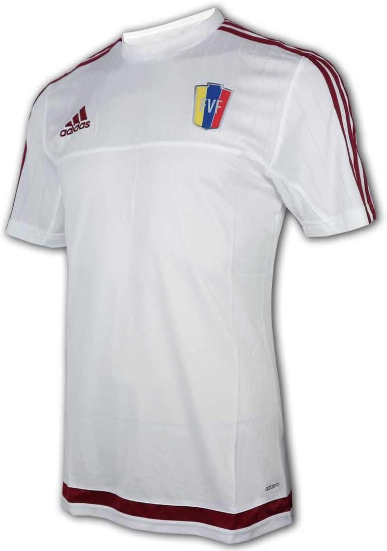 adidas Venezuela - Camiseta de fútbol, color blanco: Amazon.es: Deportes y aire libre