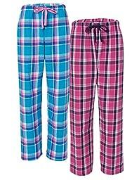 Boxercraft Women\'s Lounge Pants (Pack of 2), XL, Manhattan/Pacific Surf