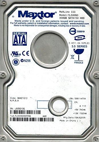 Maxtor 7L300S0 300GB SATA CODE: BANC1G10 N, M, B, A