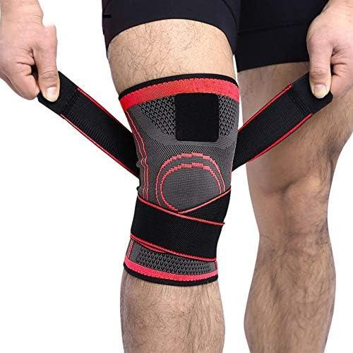Kniebandage Kniebandage Professionelle Schutz Sport Knieschoner Atmungsaktive Bandage Knieorthese Basketball Tennis Radfahren (1 STÜCKE) Knee Active Plus