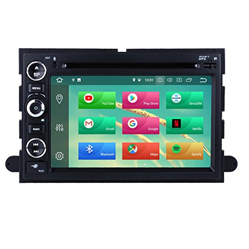 Harfey H6949G Radio GPS Navigation 7 Inch Touchscreen Bluetooth for Ford Expedition/Ford Explorer/Ford Edge/Ford Mustang/Ford Fusion Android 8.0 Indash Double Din Head Unit