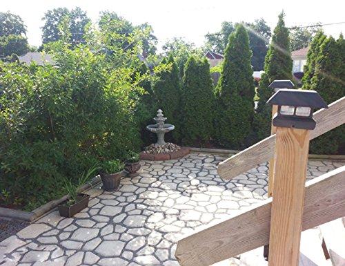 Wovte diy walk maker concrete stepping stone mold garden for Garden maker online