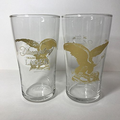 Yuengling Brewery - Gold Eagle - 16 Ounce Pub Glass - 2 Pack