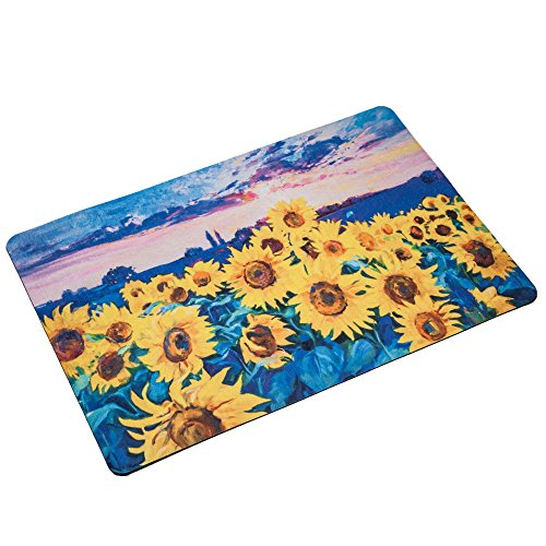 BINGOLIN Rubber Door Mat Oil Painting of Sunflowers Heavy Duty Doormat for Indoor Outdoor, Waterproof Rug for Entry, Garage, Patio