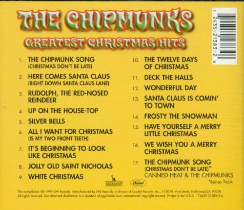 the chipmunks the chipmunks greatest christmas hits amazoncom music - Alvin And The Chipmunks Christmas Songs