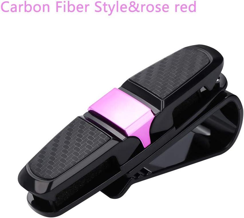 Brille tragbare Sonnenblende kfz Carbon Fiber Style/&Gold zubeh/ör auf beiden Seiten kohlefaser Card Pen Holder eine Sonnenbrille Clips Auto