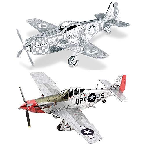 Fascinations Metal Earth 3D Metal Model Kits Set of 2 - P-51 Mustang - P-51D Mustang Sweet Arlene