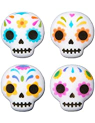 12 Ct. Day of the Dead Edible Sugar Dec-Ons Decorations Cupcake Topppers