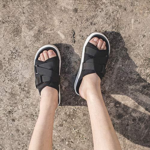 la de la Moda los Deslizadores Negro al de al WeiLuShop Zapatos Hombres Zapatos Aire Libre de Aire los Playa Libre de de los Verano Los de qY1pPf