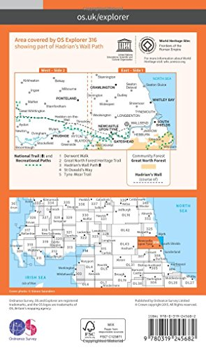 Explorer Map 316: Newcastle upon Tyne