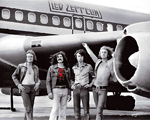 11 x 14 Inch Puzzle Led Zeppelin Oil Playing Famous Plane