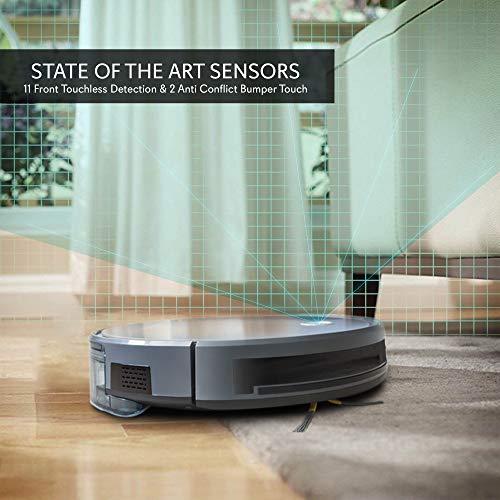Smart Robot Gyroscope Navigation App and Compatible Dock, Filter Hardwood and Floor -